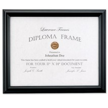 Lawrence Frames 11 by 14-Inch Black Diploma Frame, Domed Top - $541,14 MXN