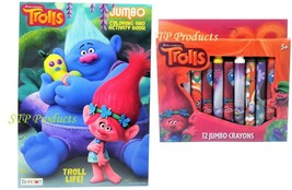 2-Pack (1) Trolls Coloring/Activity Book & (1) 12 Jumbo Crayons - $8.95