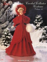 1895 Ice Skating Costume for Barbie Doll Paradise 45 Crochet PATTERN Lea... - $7.17