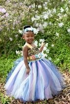 Rustic Country Wedding Flower Girl Tutu Dress, Blue Flower Girl Tutu Dress - $50.00+