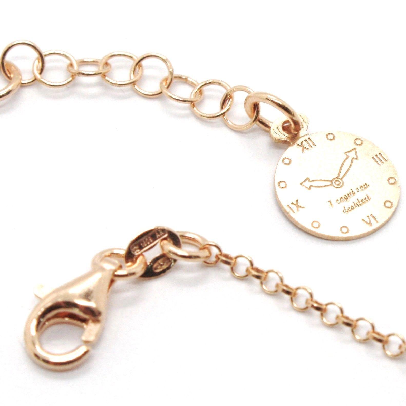 Bracelet en Argent 925 Stratifié en or Rose les Fées avec Noeud AG-901-BR-52