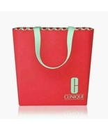 Clinique Large Travel Tote Bag /Red /Mint Green Christmas NEW 2020 - $13.81