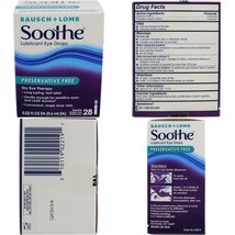 Bausch & Lomb Soothe Lubricant Eye Drops, 28-Count Single Use Dispensers - $21.99