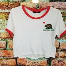 Rock Rose Classic cropped T shirt California love state bear raglan size M - $14.49