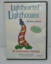 Lighthearted Lighthouses Inspira Nancy Barrett 36 Embroidery Designs CD-ROM - $11.24