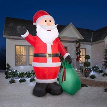 Christmas Airblown Inflatable Colossal 12' Santa Claus W/Gift Sack NEW B... - €81,21 EUR