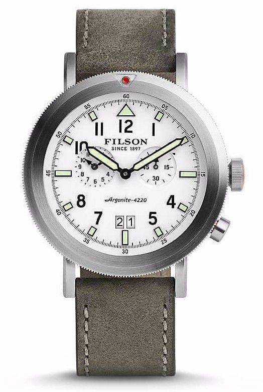 Primary image for Shinola Filson Scout Dual Time Men's Watch Stainless Steel F0110000338 NWT Grey