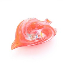"""Red Swirl Blown Glass End Of Day Mid 20th Century Bowl Ash Tray 8"""" x 5.5... - $27.16"""