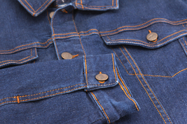 Men's Classic Multi Pocket Button Up Stretch Denim Casual Trucker Jean Jacket image 5