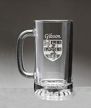 Gibson Irish Coat of Arms Glass Beer Mug (Sand Etched) - $22.49