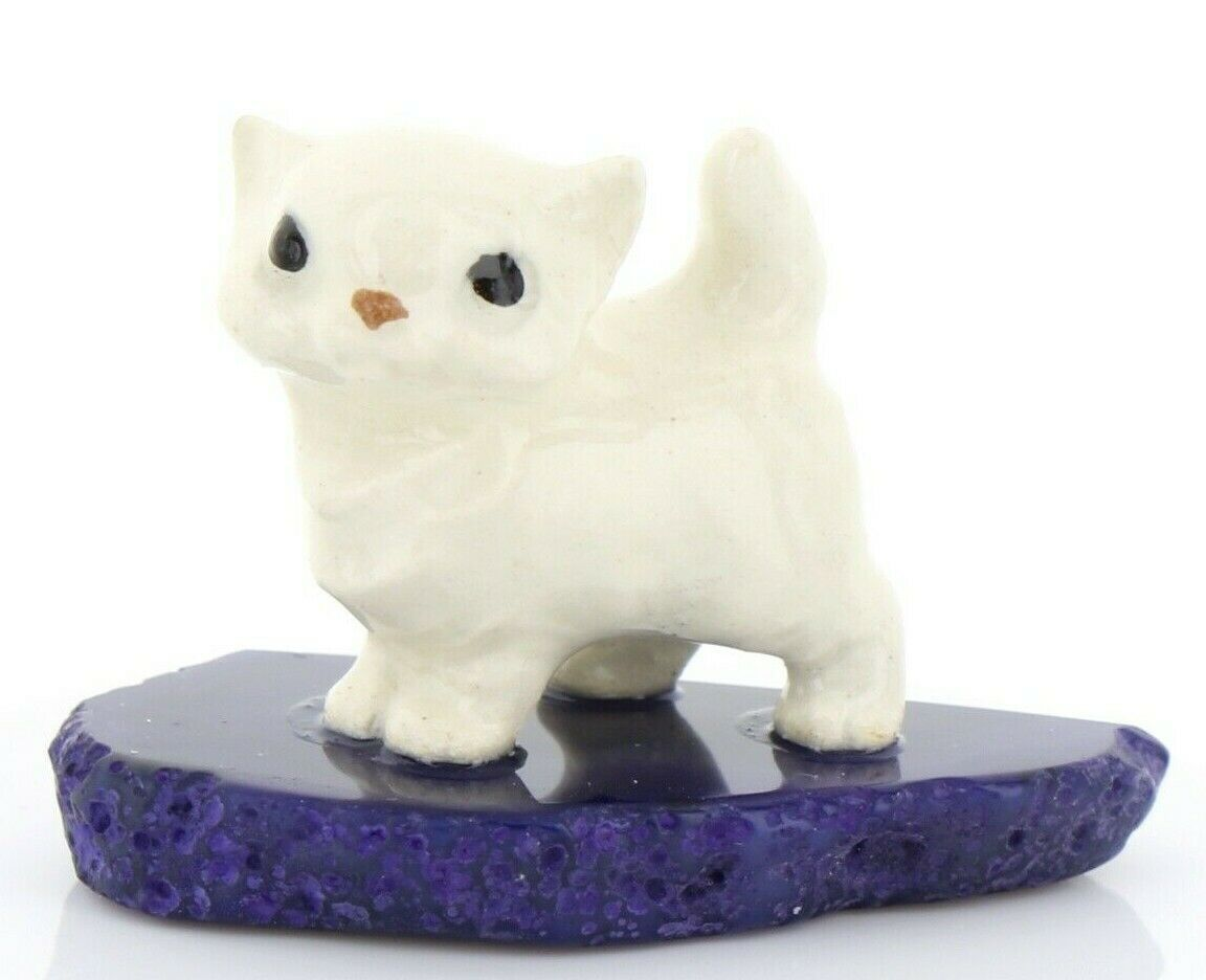 Hagen Renaker Miniature Cat Tiny Persian Kitten on Base Stepping Stones #2736