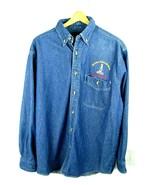Denim National Bottle Museum Long Sleeve Shirt Sz M - Museum Glassworks-... - $49.45