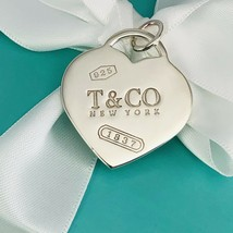 """Large 1.25"""" Tiffany & Co Sterling Silver 1837 Jumbo Heart Tag Pendant or... - $269.00"""