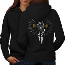 Skate Skeleton Fashion Sweatshirt Hoody  Women Hoodie Back - $21.99+