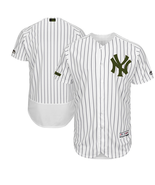 Men s new york yankees blank jersey white baseball flexbase green stitched thumbtall