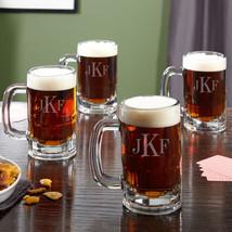 Benton Classic Monogram Beer Mugs, Set of 4 - $69.95
