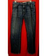 Levi's 505 Straight Fit Denim Blue Jeans Men's Size 36 X 33.5 EUC - $15.84