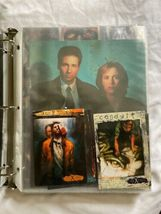 The X-Files Trading Card Lot Binder Press Photo Gillian Anderson David Duchovny image 3