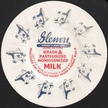 Vintage milk bottle cap SLENVU GUERNSEY JERSEY FARM Phone WA 2-1744 Homo... - $6.99