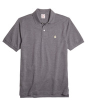 Brooks Brothers Mens Gray Gold Performance Polo Shirt Sz Small S $70 3690-3 - $55.53