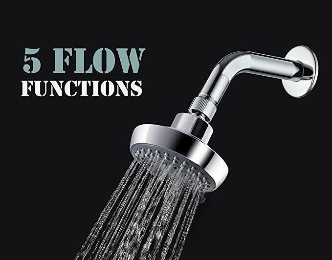 "Primary image for AMG - Portland 3.8"" High Pressure 5 Functions Shower Head (76 Jets) with Modern"