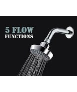 """AMG - Portland 3.8"""" High Pressure 5 Functions Shower Head (76 Jets) with... - $19.79"""