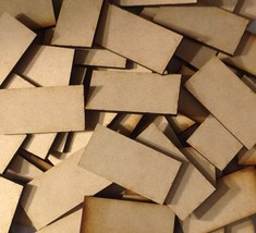 20mm x 40mm MDF Wood Bases Laser Cut Crafts FAST SHIPPING US SELLER - $2.96
