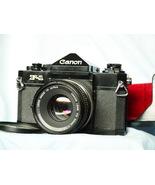Canon F-1 Professional 35mm SLR Film Camera +FD 50mm f1.8 Lens -TESTED-N... - $250.00