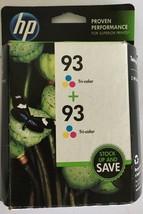 NiB Genuine HP 93 Twin-Pack TRI-COLOR Ink Cartridges CC581FN Expired - $16.88