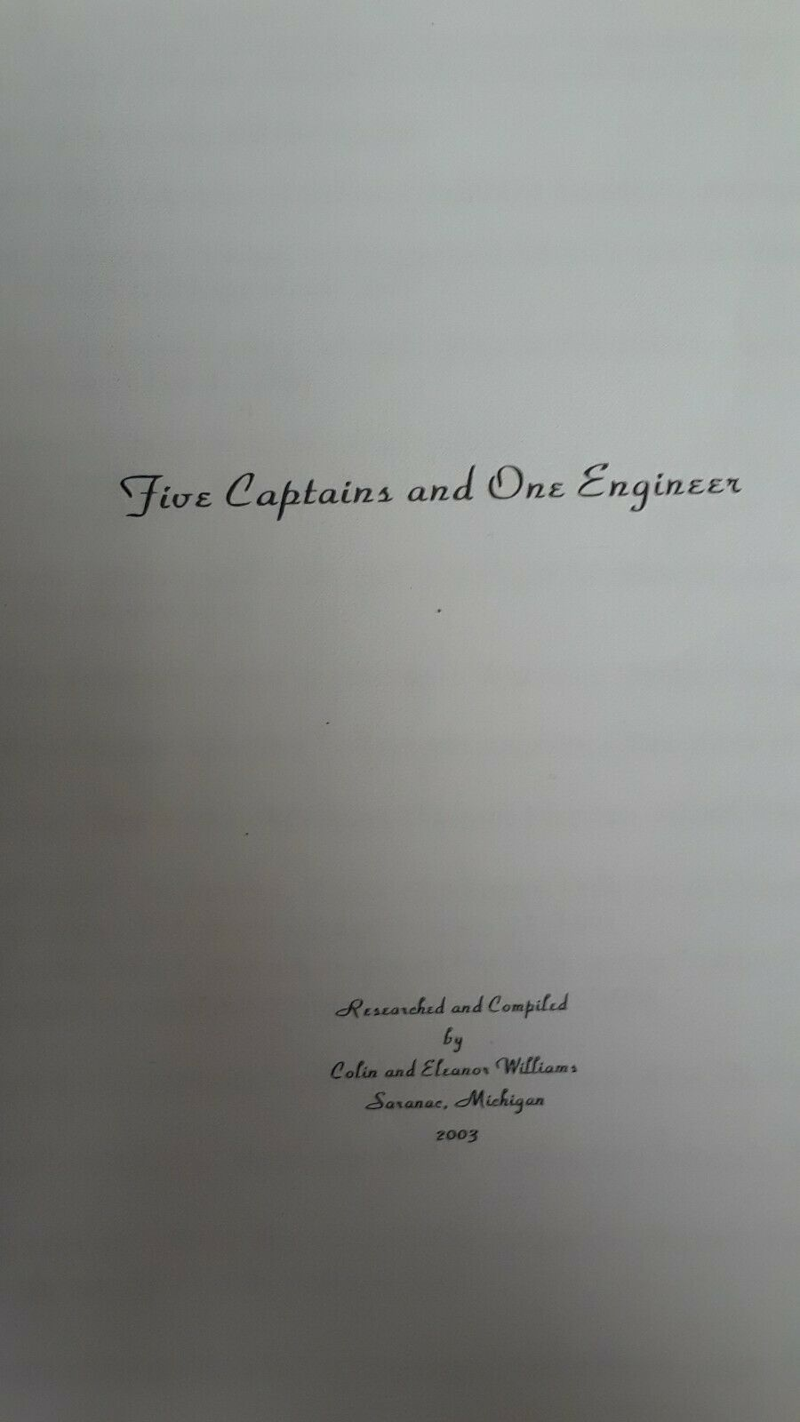 Primary image for Five Captains One Engineer Ackerman Family Genealogy Research History Great Lake