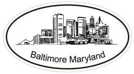 Baltimore Maryland Oval Bumper Sticker or Helmet Sticker D1172 - $1.39+