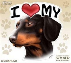 "I Love My Dachshund Dog 4"" Car Truck Home Vinyl Sticker Decal Pet Gift USA - $4.74"