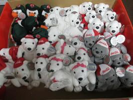 Coca-Cola Brand Original Box 36 Plush Bean Bag Animals Polar Bear Seal P... - $94.05
