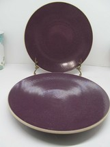 "Sasaki Plum Purple 11"" Dinner Plates Set Of 2 Plates In Very Good Condition - $28.42"