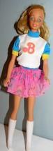 Mattel 1970s twist N turn Blond Barbie Doll in Cheerleader outfit - $12.87