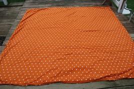 Pottery Barn Kids Full/Queen Orange Star Organic Cotton Duvet Cover 82x86 - $43.70
