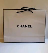 "New CHANEL (2) Medium White Paper Gift Shopping Bags 9.5"" X 7.5"" X 2.5"" - $18.65"