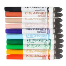 Lot of Crayola Sillyscents Sweet & Stinky Markers Green Storage Case + Stickers image 5