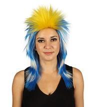 Uruguay Flag Sport Mullet Wig HW-2965 - £23.78 GBP