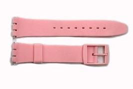 17mm Uomo Rosa Ricambio Orologio con Cinturino per Swatch Orologi - $9.34