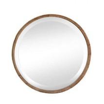 Wood Frame Round Wall Mirror - $117.64