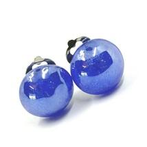 Earrings Antica Murrina Venezia, OR512A06, half Sphere, Blue, Closing Clips image 1