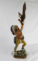 The Hamilton Collection Talisman Of Courage Indian figurine eagle Ancien... - $56.43