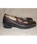 Aravon Brown Comfort CRISCROSS Pebble Leather Mary Jane Shoes 8B Used - $34.64