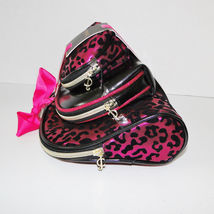 Juicy Couture Leopard Pink & Black Cosmetic Travel Case Set image 9