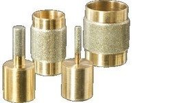 Stained Glass Grinder Head Bit 4 Sizes Diamond on Brass Core - $50.57