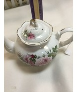 Arthur Wood & Son,Staffordshire,England, Teapot with Roses,Marked #6304 - $47.41
