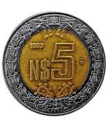 1993 Mexico 5 Pesos Actual Photos Lot #C1604 - £2.32 GBP