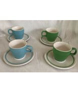 2004 STARBUCKS At Home Collection Green Blue White Coffee Espresso Cup D... - $54.44