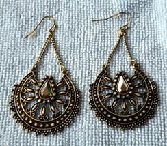 Avon Infinite Stars dangle earrings Signature Collection bronze & hematite NIB - $18.00